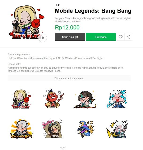Berita : Download Sticker LINE Mobile Legends dan Menangkan