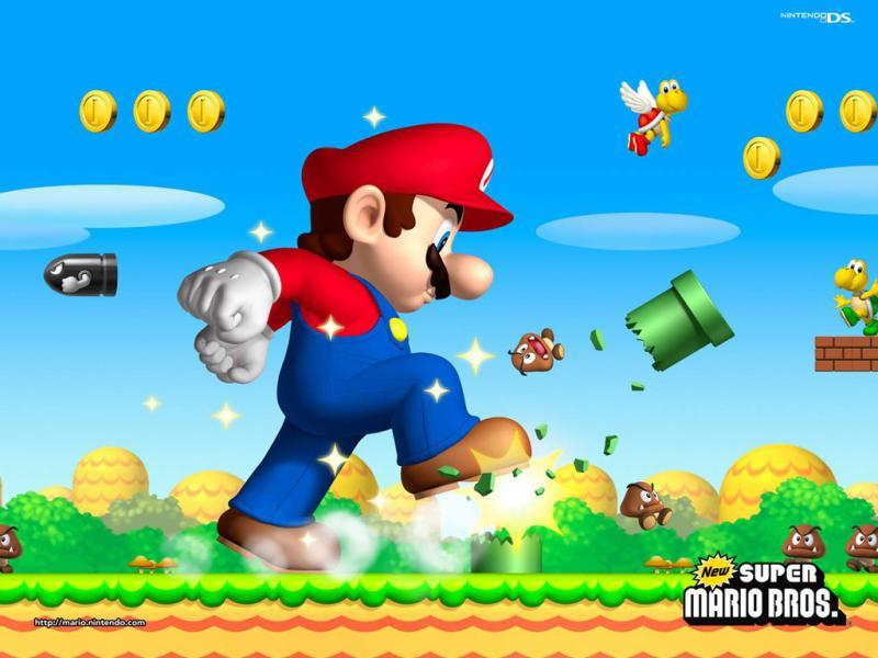 mario bros wallpaper. wallpaper Mario Bros.