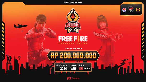 12 Tim Free Fire akan Bertanding untuk 200 Juta Rupiah di Grand Final Piala KONI 2020